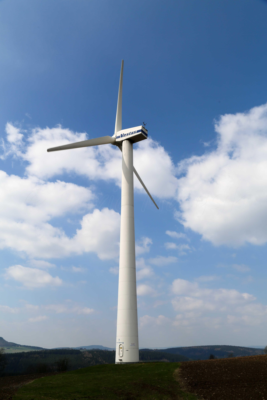 Wind Turbine System : Vestas v kw wind turbine